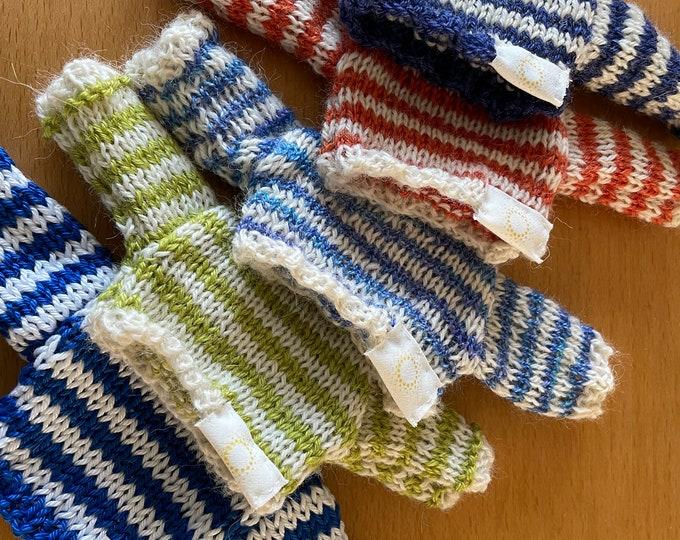 Teddy Bear Accessories, hand knitted jumpers  alpaca, merino, silk wool DevonGrizzlies