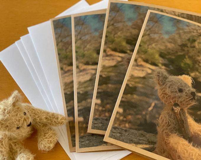 Vintage Teddy Bear Greeting Card - Pooh Sticks Anyone? DevonGrizzlies