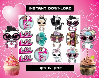 Lol Surprise Dolls Birthday Party Decoration Etsy