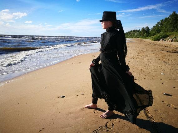 Amazing Jean Varon Victorian style vintage dress f