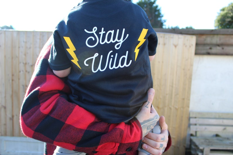 Stay Wild tee black image 0