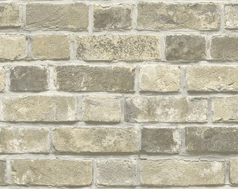 Brick Wallpaper Etsy