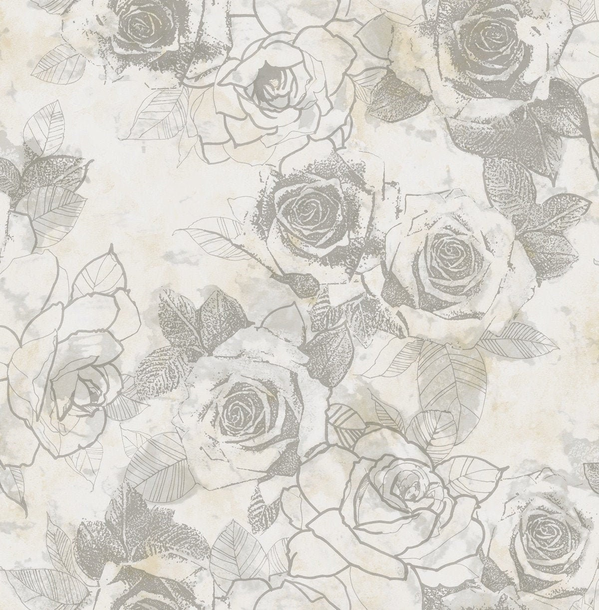 Metallic Wallpaper Flower Wallpaper Graphic Wallpaper Etsy