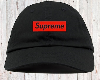 09dbafe19ff Supreme Inspired Dad Hat Strapback