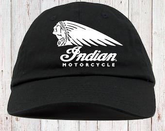 Indian Biker Motorcycles Dad Hat Strapback f792bd8b78b