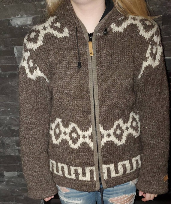Ladies Cowichan Style sweater