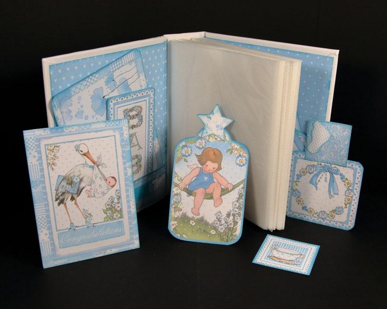 gift memorabilia Fleur Ange scrapbooking unique Handmade album 80 photos birth