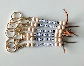 Beaded Keychain, Poshmark Keychain, Wood Keychain, Gold Keychain, Reseller Keychain, Backpack, Diaper Bag, Reseller, Poshmark