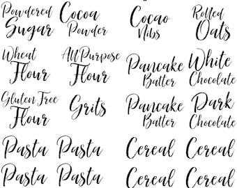 Pantry Labels   Kitchen Labels   Pantry Organization   Kitchen Organization   Canister Labels   Shelf Labels   Vinyl Labels