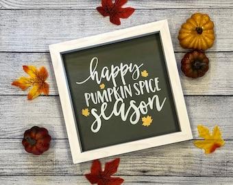Happy Pumpkin Spice Season Wood Sign   Fall Decor   Pumpkin Spice Wood Sign   Pumpkin Decor   Fall Signs   Fall Farmhouse Decor   Happy Fall
