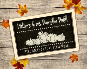 Welcome To Our Pumpkin Patch Wood Sign   Fall Decor   Pumpkin Sign   Custom Family Sign   Pumpkin Decor   Pumpkin Patch   Farmhouse Fall