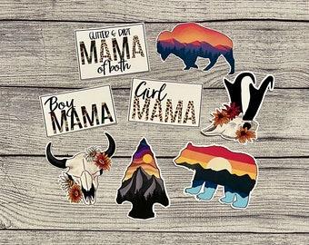 Stickers   Decals   Mama Sticker   Buffalo Sticker   Bear Sticker   Sunset Decals   Decals   Car Decals   Water Bottle Stickers   Outdoorsy