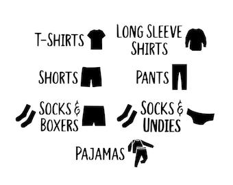 Dresser Labels   Clothes Labels   Kids Room   Organization   Dresser Decals   Clothing Labels   Drawer Labels   Labels   Decals   Kids