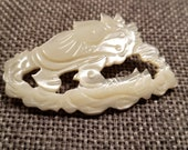 Vintage Mother of Pearl Dragon Style Pin - no markings