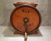 Antique Wood Barrel Butter Churn - Joseph Breck Son, Boston, Massachusetts