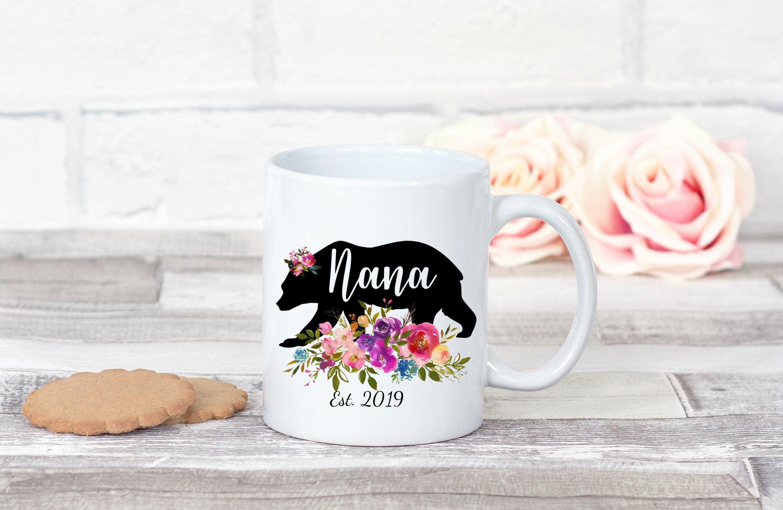 Details about  /Personalized Grandma Mug Grandma Bear Mug Est 2019 Future Grandma New Grandma