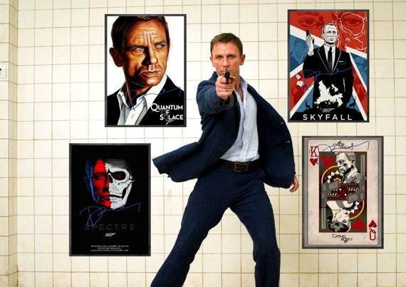 007 Series Signed Daniel Craig James Bond Art Collection Digital Downloads Signed Prints Vintage Movie Posters Decor 2019 Classic