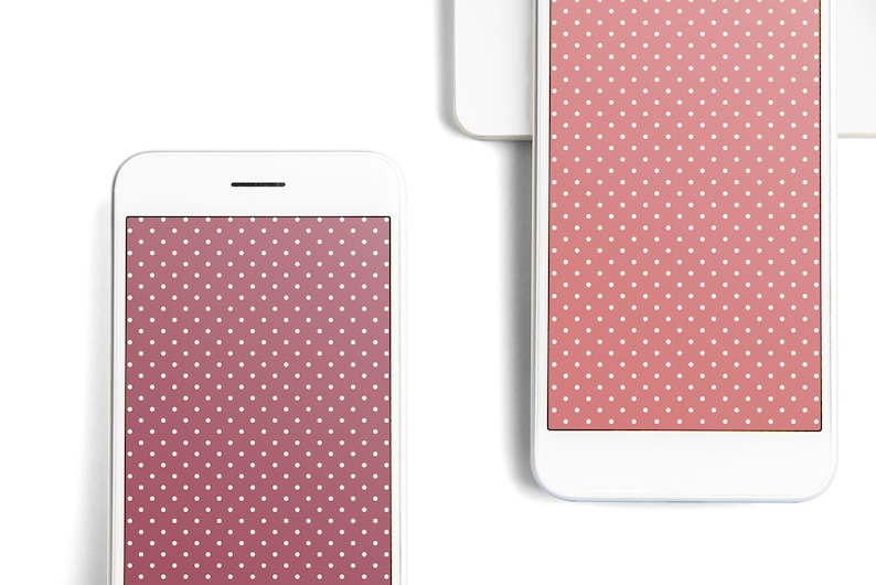 Iphone Wallpaper Pink Polka Dot Wall Paper Iphone 6s Plus Iphone 7 Plus Iphone 8 Plus Iphone 6 Plus Digital Background Digital Images Phone
