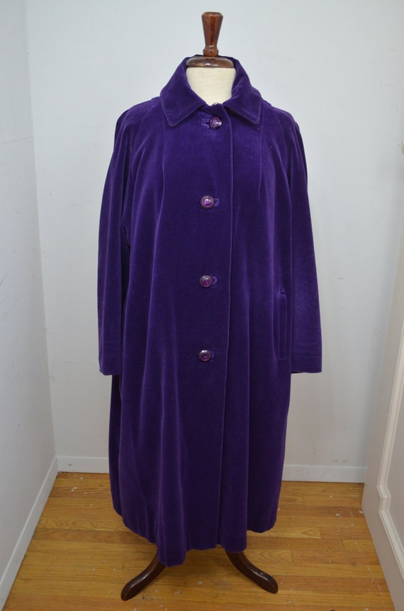 Vintage deep purple swing coat