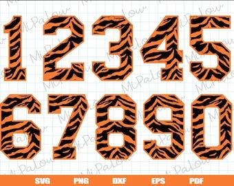 Tiger Font Svg Etsy