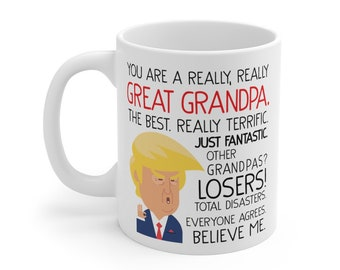 SUPER GRANDAD Mug Fathers day Gift for Grandad//Grampy Birthday Christmas