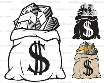 Download Money bag svg   Etsy