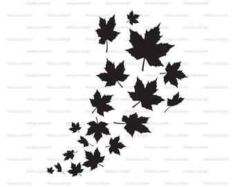 Fall Harvest SVG Fall Leaves Cutting File Autumn Cutting File Fall Decor Autumn SVG Fall Graphic Overlay Silhouette SVG Cricut Download
