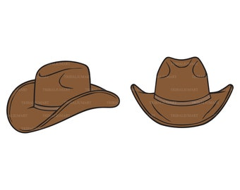 84490d4cc74 Cowboy hat. Cut files for Cricut. Clip Art (eps, svg, pdf, png, dxf, jpeg).