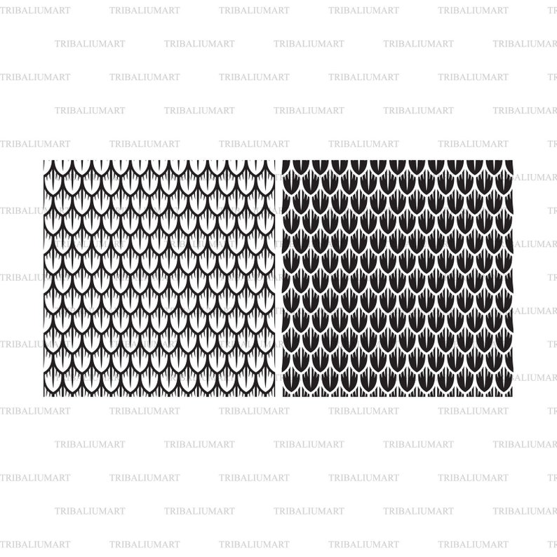 Cut files for Cricut eps, svg, pdf, png, dxf, jpeg background, wallpaper Clip Art silhouettes . Dragon scales seamless pattern