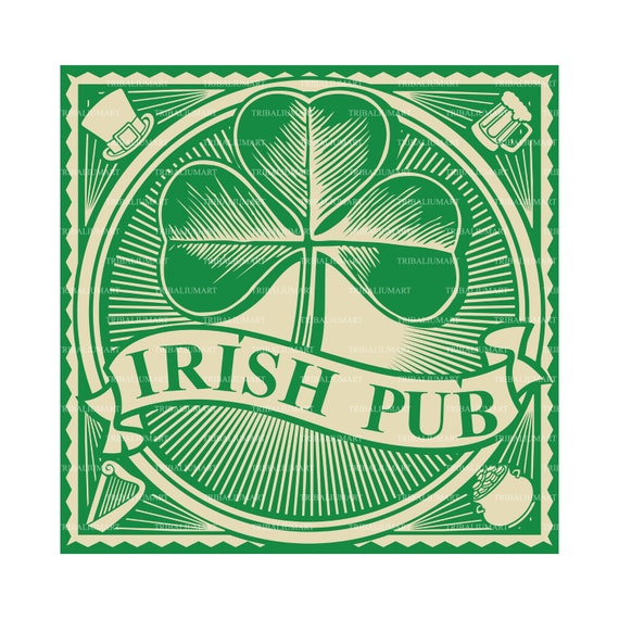 Reusable Mylar Stencils Irish Pub Whiskey Ale Friends Food Sign Stencil