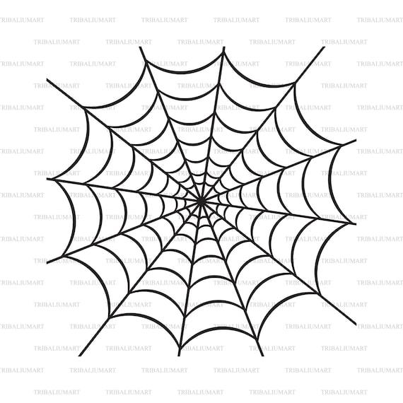 Spider Web Cut Files For Cricut Clip Art Silhouette Eps Etsy