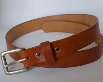 Oak Bark Tanned Leather Belt
