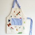 Toddler's apron, kids apron, child apron, Montessori apron - insects apron