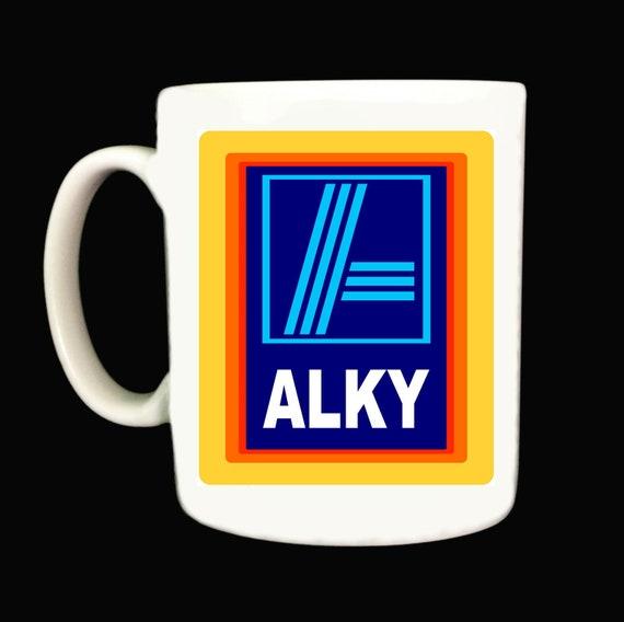 Alky Mug Mugs Rude Funny Offensive Aldi Style Joke