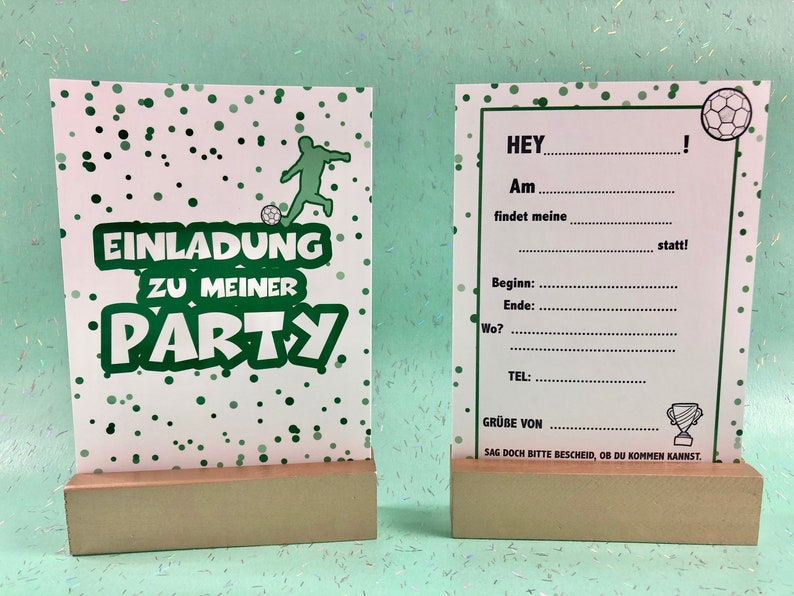Invitation Card Motto Football  With Softtouch  image 0