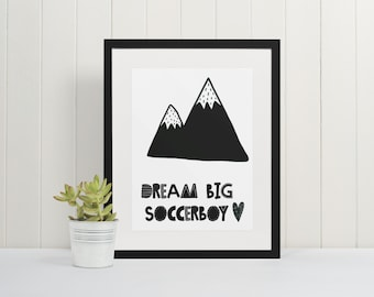Football Picture - Children's Picture ++ Poster ++ Football ++ Football Print ++ Soccerboy ++