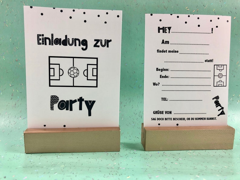 Soccer Invitation Cards  Scandi-Look  with Soft-Touch  image 0