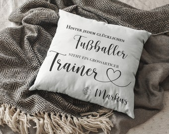 Trainer Gift Pillow Personalized