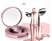 Magnetic False Eyelashes Natural Eye Lashes Extension Liquid Eyeliner Tweezer