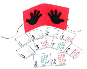 Tantino Numbers Game , Educational Game made from Felt