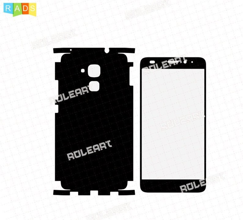 Skin Cut Template For CNG Cuting Plotter Huawei Honor 7 Lite