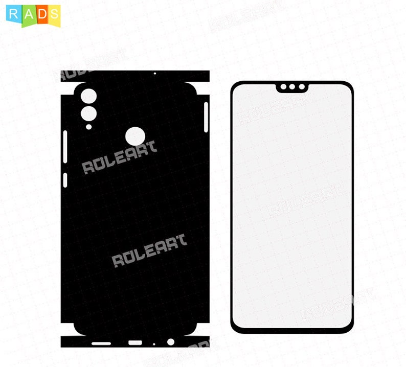 Huawei Honor 8X - Skin Cut Template For CNG, Cuting Plotter