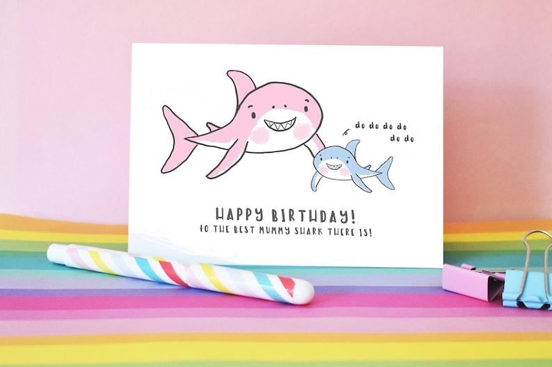 Geburtstagskarte Schreiben Mama.Geburtstag Hai Karte Mama Hai Geburtstagskarte Baby Shark Geburtstagskarte Tante Hai Oma Hai Mama Hai Benutzerdefinierte Baby Hai