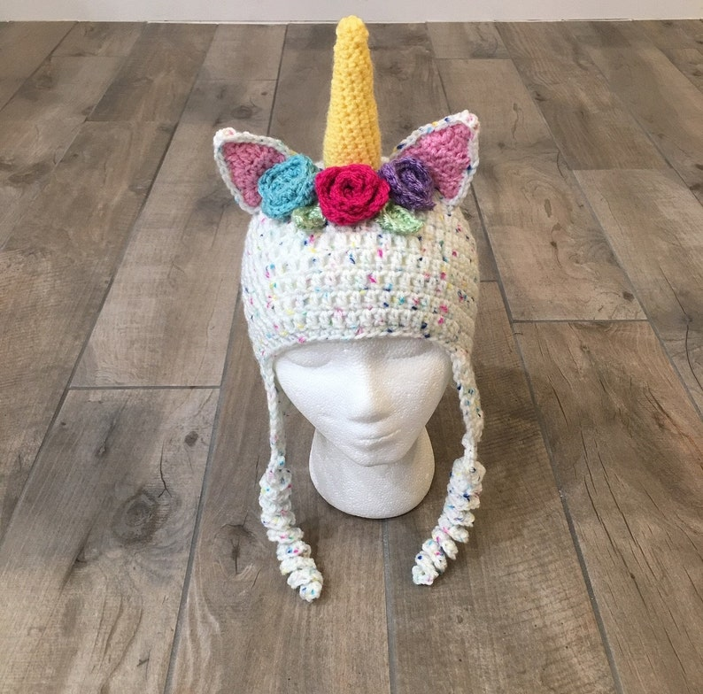 Crochet Unicorn Hat image 0