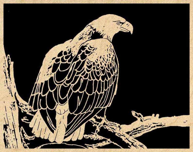 Eagle On A Limb pdf Scroll Saw Pattern 029mw