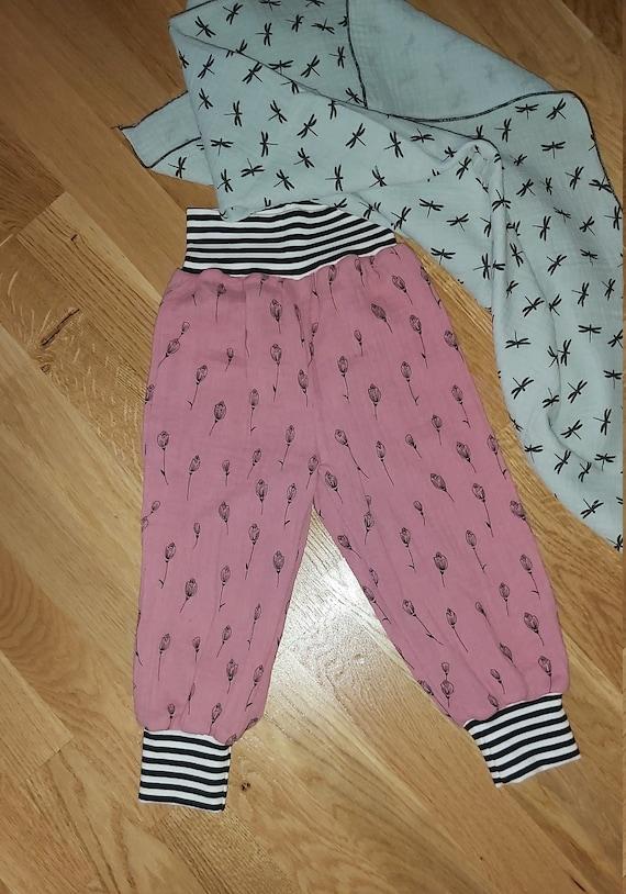 Pump pants Knickerbocker feel-good pants muslin pants rust-orange desired size 44 50 56 62 68 74 80 86 92 Muslin summer pants