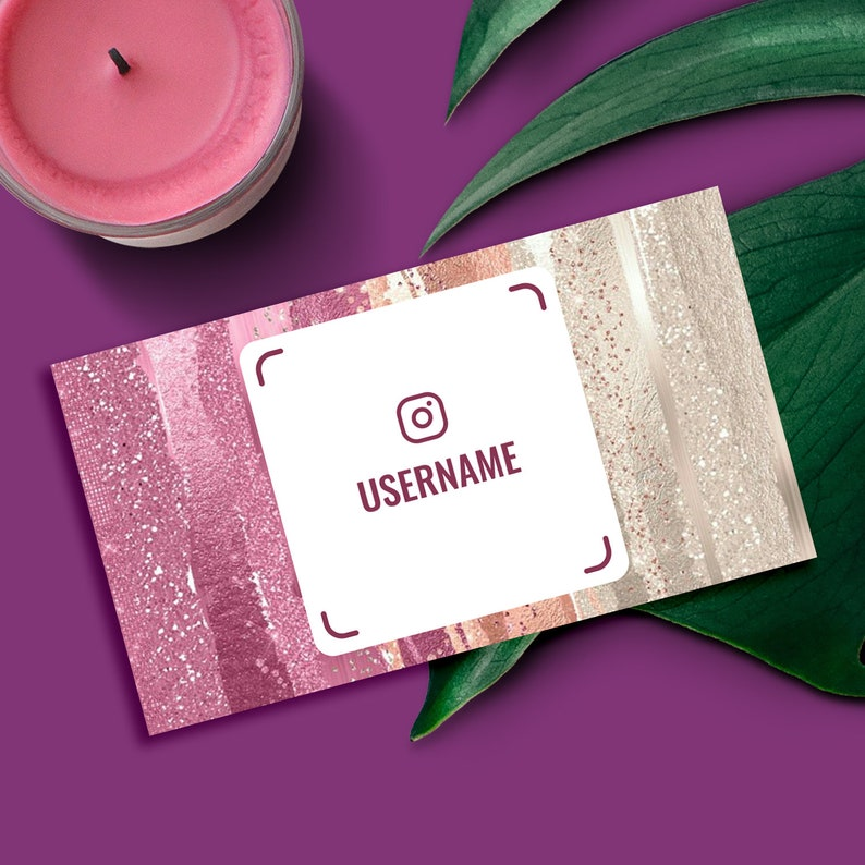 Sparkles Business Card Instagram Nametag Template