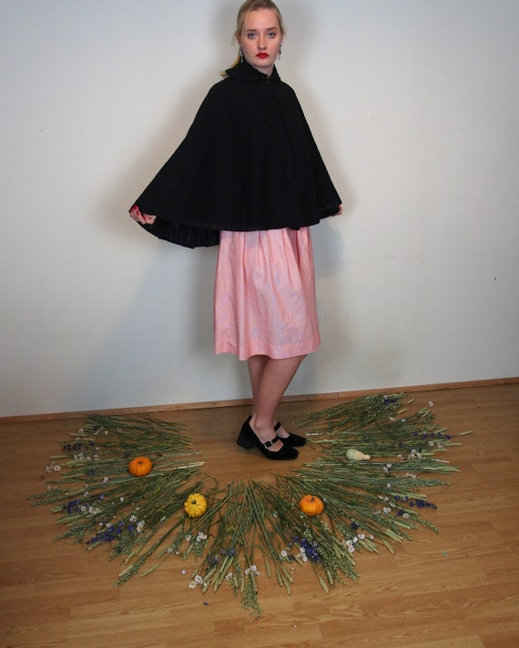 Beautiful Victorian mourning cape with jet beading