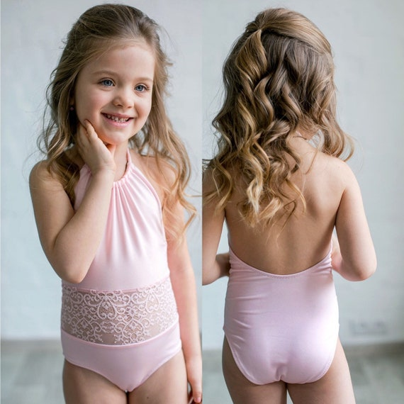 choose newest big selection of 2019 good quality Pink swimsuit for girls Birthday girl swimsuit kid Sweet open shoulders  girl bathing suit Baby swimsuit for a girl Little Girls Bathing Suit