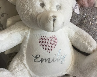 fccd9312424 PERSONALISED White Angel Teddy Bear With Wings